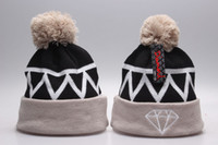 Wholesale Hip Hop Beanie For Women - Yjyb2b 2016 hot sale knit pom beanie hats for women men Hip Hop Diamond Supply Co Beanie wool knitting caps popping hats with pom mix order
