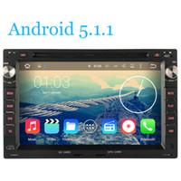 Wholesale Dvd Vw T5 - ndroid 5.1.1 Quad Core HD 1024*600 Car DVD Radio GPS For VW Volkswagen Transporter T4 T5 GOLF 4 MK4 Jetta POLO Sharan Passat