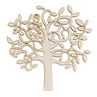 Wholesale Mdf Decorations - New 10Pcs Wooden MDF Tree Shape Decor for Family Tree Decorations Wooden Craft Wooden Tree Decor Wood Home Decoration order<$18no track