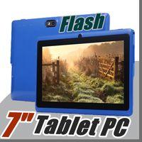 inç flaşlı kamera tabletleri toptan satış-10X Allwinner A33 Dört Çekirdekli Q88 Tablet PC Çift Kamera 7