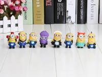 Wholesale Despicable Toys Pvc - 5cm 8PCS Set Despicable Me 2 PVC action Figure doll Toys With Box 8 STYLES