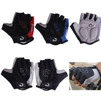 Wholesale Mtb Gel Gloves - Cycling Gloves Half Finger Anti Slip Gel Pad Breathable Motorcycle MTB Mountain Road Bike Gloves Men Sports Bicycle Gloves S-XL