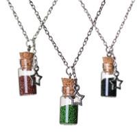 collier de bouteilles souhaité achat en gros de-Rapide Sable Souhaitant Drift Bouteille Collier Messenger Bouteille Étoile En Verre Colliers Collier pour femmes Bijoux De Mode cadeau De Noël 161542
