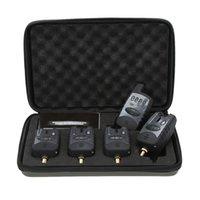 Wholesale Carp Alarm Wireless - Fishing Alarm Set Wireless Digital Water-resistant 4 Fishing Bite Alarm + 1 Receiver in Case for Carp Fishing