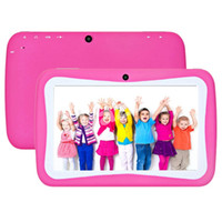 Wholesale Cheap Kids Touch Screen Tablets - Cheap Kids Tablet PC 7 Inch Quad Core RK3126 Android 5.1 Lollipop 8GB 512M RAM Multi Touch Bluetooth 1024*600 HD Dual Camera Fun Tab