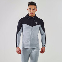 Wholesale Assassins Creed Belt - Wholesale-2016 Gymshark Hoodies new brand hoodies men sweatshirt belt patchwork full sleeve assassins creed man hoodies tracksuits