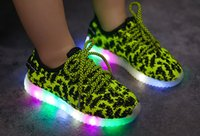 Wholesale Korean Shoes For Women - Autumn of 2016 new children LED lighting shoes for men and women leisure shoes shoes all-match coconut Korean Children's shoes