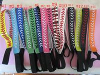 Wholesale braid black hair american online - softballsunny Headband Elastic Braided Leather Fashion Headband with Attached Hair Baseball and softball leather headband