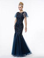 elmas yaka gece elbiseleri toptan satış-2016 yeni yüksek yaka ceket resmi anneler Elbiseler dantel aplike lüks Kristal Rhinestone Mermaid Elbise Anne Akşam elbise artı boyutu