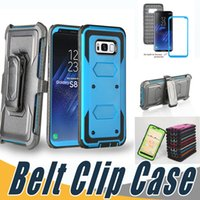 Wholesale Case Hd Lg - Shockproof Armor Hybrid Kickstand Case With Belt Clip and Screen Cover For iPhone 7 7S 6 6S Plus 5 5S SE Alcatel Idol4 Fierce4 TUR BLU R1 HD