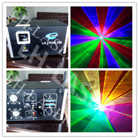 Wholesale Animation Show Light - new arrival 3w RGB laser animation scanner projector DMX Stage DJ lighting Dance Show bar disco Party Light Show system