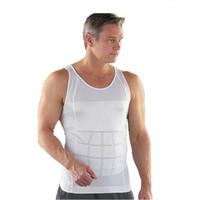 Wholesale Wholesale Men S Thermal Shirts - Hot Men's Sexy Slimming Tummy Body Shaper Belly Fatty Thermal Slim Lift Underwear Men Sport Vest Shirt Corset Shapewear Reducers Men's