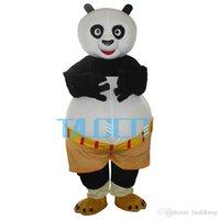Wholesale Halloween Costumes Kung Fu Panda - Kung Fu Panda Mascot Costume For Halloween Carnival Fancy Dress Adult Free Shipping