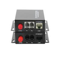 Wholesale Media Converter Single Mode - High Quality 2 Channel PCM Voice Telephone fiber optic media converters with Ethernet 1Pair -FC Single mode 20Km
