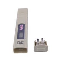 Wholesale portable tds meter - 3 Pcs lot Pen Design TDS+LED Digital Meter TDS TEMP PPM Tester Pen Stick Water Purity Monitor Portable