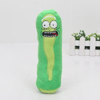 Wholesale Movies Plush - 11cm Rick and Morty Pickle Rick Plush Stuffed Toy Doll TV Series Movie halloween cosplay costume