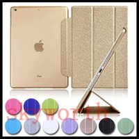 Wholesale ipad smart clear back case online - for ipad Pro ipad air mini Galaxy Tab A S2 smart cover Clear back case
