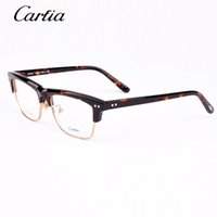 Wholesale metal frames reading glasses women - Carfia glasses frame for men and women 5318 computer reading glasses metal plank frame oculos de grau prescription eyewear with case