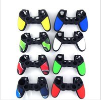 Copertura antisdrucciolevole della copertura della pelle di caso del silicone protettivo doppio di colore per SONY Playstation 4 PS4 Wireless Game Controller Game Accessories