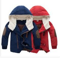 Wholesale Parka Children - Retail 2014 new kids boys' winter outerwear hooded coat top quality thick wadded jacket parkas child clothing kids Free shipping