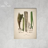 Wholesale Leaves Abstract Wall Art Panel - HD Modern Pictures And Art Prictures Custom Wall Decoration Painting Plant Digital Picture Spray Printed Canvas Leaves On Canvas