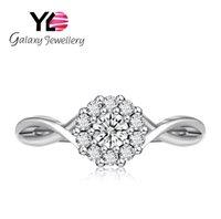 ingrosso gioielli in zircone-Anelli in argento Gioielli Anelli donna S925 Argento 925 Mosaico Zircon Springs Fine elegante coreano femminile anelli