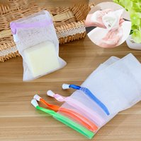 Wholesale Net Used - 10 Pcs Lot body cleansing foam net bubble foam bag with belt use less cleanser Spot handmade soap Cleanser necessary foaming net