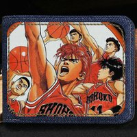 Slam dunk portefeuille Hanamichi Sakuragi anime sac à main Basketball bande dessinée courte note de caisse de cas Money notecase cuir sac burse Card holder