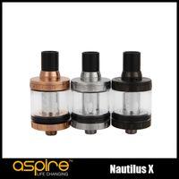 Wholesale Tech Glasses - 100% Original Aspire Nautilus X Atomizer 2ml Adjustable Top Airflow Tank Leakproof design with U-Tech coil system