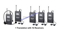 Wholesale Uhf Voice - Boutique Takstar WTG-500 UHF PLL Wireless tour guide system voice device teaching earphones 1Transmitter+15Receiver+MIC+earphone byAIBIAERTE