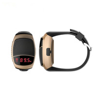 Wholesale Time Speaker For Mobile - B90 Bluetooth Watch Speaker Smart Sports Watch Hands-free Call TF Card Play FM Radio Selfie Wireless Speakers LED Time Display