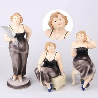 Wholesale friends decorations - Marilyn Monroe Figure Ornaments Set Creative Resin Arts and Crafts Modern Home Decorations Wedding Birthday Gifts to Friends