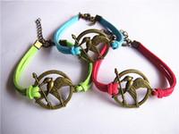 Wholesale Infinity Friends Bracelet - 20pcs lot The hungry bird bracelets believe Infinity Ancient bronze silver leather bracelets Best friend Dragonfly bracelets