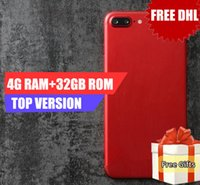 Wholesale Tri Sim Android Smartphone - Dhl Free Goophone I7 Plus Fingerprint Real 4G Ram 32G Rom add 64Gb Card Show 128Gb Real 4g Lte Octa Core 1920*1080 screen 16MP Smartphone