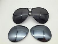 erkekler için geniş çerçeve güneş gözlüğü toptan satış-Araba marka Carerras Güneş Gözlüğü P8478 Bir ayna lens pilot çerçeve ile ekstra lens değişimi araba marka büyük boy erkekler marka tasarımcısı