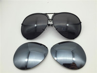 Wholesale Sunglasses Large Lens - Car brand Carerras Sunglasses P8478 A mirror lens pilot frame with extra lens exchange car brand large size men brand designer