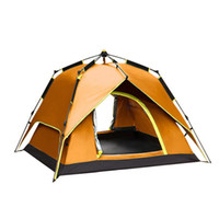 Wholesale Double Layer Tents - Wholesale- 3-4 Persons Portable Fully Automatic Tent Rainproof Tent Double Layers Outdoor Camping Hiking Fishing Backpacking Tent Drop Ship