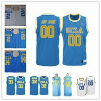 Wholesale Names Baby - Custom Mens UCLA Bruins College Basketball light blue baby white Personalized Stitched Any Name Any Number 0 2 14 customized Jerseys S-3XL
