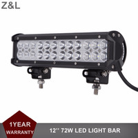 12 '' 72W Offroad LED Light Bar Car Truck Auto 12 V 24 V Rimorchio ATV Pickup Wagon 4x4 SUV Driving Lamp Van Camper Trattore Faro