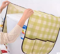 Wholesale Cloth Refrigerator Covers - Free mail direct hang household cloth cotton and linen refrigerator cover bag to receive bag dust sheets cover towel dust cover double avail