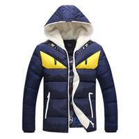 Wholesale Men Cotton Jacket Size 4xl - Fall-Parka Men Winter Jackets Mens Cotton Cartoon Printed Pattern Men Jacket Fashion Warm Thincken Loose Coats Plus Size MF003