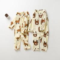 Wholesale Alpaca Baby - Owlbaby Animal Alpaca Baby Romper Jumpsuits Boys Girls Romper Long Sleeve Cartoon Outwear Sleepwear Unisex Toddler Infant Boutique Clothing