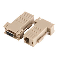 Wholesale db9 adapters for sale - Hot Sale Good Quality DB9 Female To RJ45 Female F F RS232 Modular Adapter Connector Convertor Extender