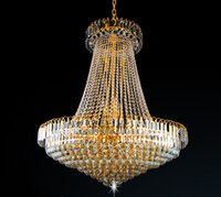 Wholesale Empire Chandeliers - New Royal Empire Golden Crystal chandelier Light French Crystal Ceiling Pendant Lights DHL Fast Shipping 1pcs