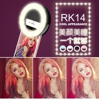 Wholesale Portable Rechargeable Spotlight - Universal Rechargeable Portable LED Selfie Ring Fill in Light Spotlight Selfie Flash Enhancing Photography for iPhone Android