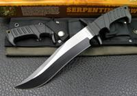 papier direct d'usine achat en gros de-Usine bowie SEPENTINE directe FIXE couteau à lame LAME COUTEAU 5Cr15 58HRC survie en plein air couteaux droites avec emballage de boîte de papier d'origine