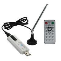 dvb t2 tv usb venda por atacado-Freeshipping Digital DVB T2 TV USB Stick Tuner USB2.0 Receptor HDTV + Antena + Controle Remoto para DVB-T2, DVB-T, DVB-C, banda VHF- / UHF