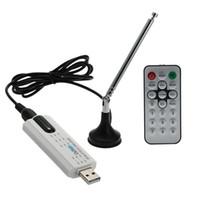 sintonizador de tv hdtv al por mayor-Freeshipping Digital DVB T2 USB TV Stick Tuner USB2.0 HDTV receptor + antena + control remoto para DVB-T2, DVB-T, DVB-C, banda VHF- / UHF
