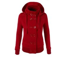 Wholesale Hooded Add Wool - Europe and the United States foreign trade new hot style ladies hooded double-breasted add wool fleece female coat