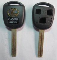 Wholesale Lexus Key Blanks - KL23 TOY40P-3B TOYOTA KEY SHELL, 3 BUTTONS HOLE, WITH LEXUS LOGO LONG BLADE CAR KEY BLANK